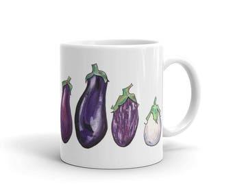 Six Eggplants Mug