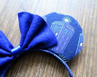 Doctor Who Tardis Blue Mickey Ears Galliday