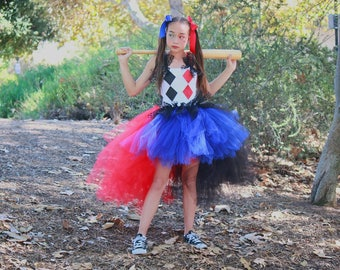 Harley Quinn Costume, Harley Quinn tutu dress, Harley Quinn Comic Con, Jester tutu dress, jester costume, harlequin costume