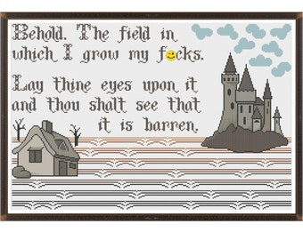 My Field of F*cks (MATURE) - Counted Cross Stitch Pattern (X-Stitch PDF)