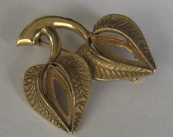 Vintage Cabochon Gold Tone Brooch Finding