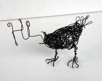 HI Bird- Original Handmade Wire Bird Sculpture