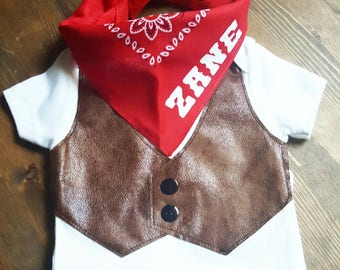 Cowboy First Birthday - Western 1st Birthday Outfit - Baby Cowboy Vest - Cowboys Indians Party Outfit - Cowboy Birthday - Boys Western Vest