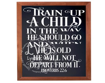 DIY Train Up A Child Glass Block Decal