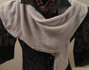 Velvet Pewter Merino Wool Scarf