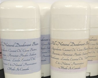 Natural Deodorant with Baking Soda -Handmade