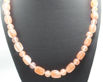 Handmade Cherry Quartz beaded necklace.
