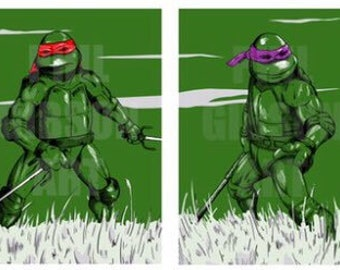 Teenage Mutant Ninja Turtles Four Print Poster Set