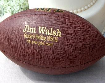Personalized Football, Ring Bearer Gift, Groomsmen and Best Man Gift, Wedding Keepsake, Usher Gift, Gifts for Men, Best Man Gift, Football