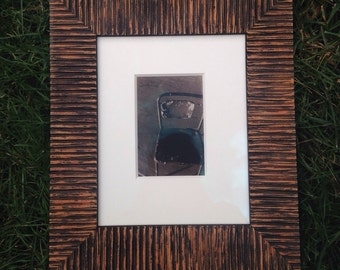 """Framed Sepia Toned Silver Gelatin Photograph """"Lonely Chair"""""""