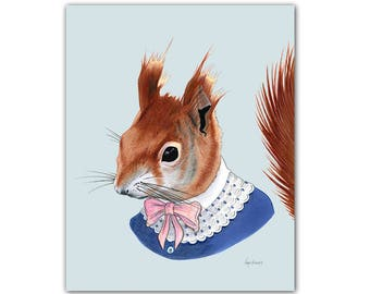 Red Squirrel print 5x7