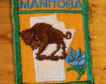 Vintage Manitoba Canada Sew On Patch !