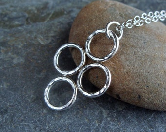 Sterling Silver 'Marazion' Pendant and Chain. Handmade Jewellery by Joel Martin of Cornwall