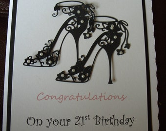 Handmade Personalised 21st Birthday Card