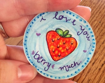 i love you berry much Strawberry Laptop Sticker