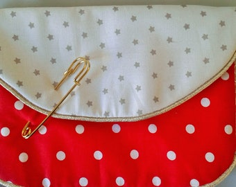 Small red pouch for handbag