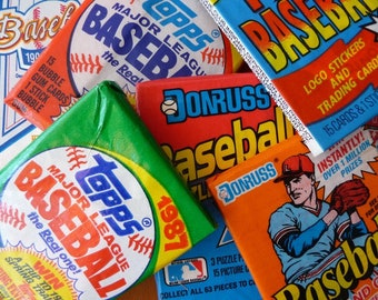 Lot of 100 Vintage Unopened Baseball Cards 1970s-1990s