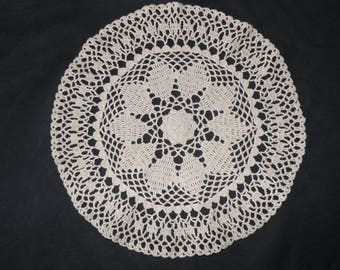 Handmade linen doily new 11,81 inches