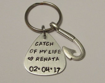 Catch of my life, Fishing Lure Keychain, Anniversary Gift, Fisherman Gift, Husband Gift, Lure, Customized Lure, Spouse Gift, Fishing Lure
