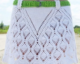 Crochet Pattern. Lace crochet skirt Renata Instant Download Level - Intermediate