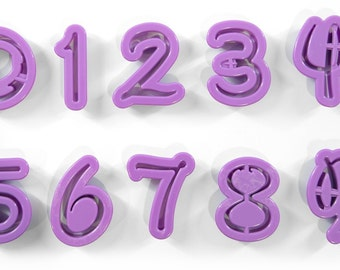 Number Fondant Gum Paste  Font Cutters - Quality Caking, Decorating, Crafting and Baking tools from Bakell!