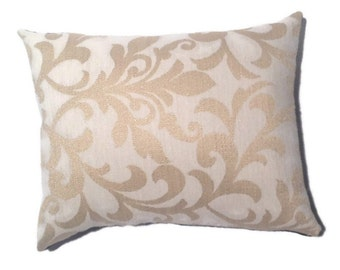 Decorative Throw Pillow Gold Black Embroidered Home Decor, Accent Pillow, Toss Pillow