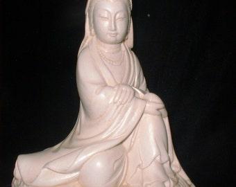 Ivory Finish Quan Yin Goddess of Compassion a Female Bodisatva Buddha