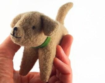 toy dog, stuffed dog, waldorf toy, waldorf dog, all natural waldorf dog, small stuffed toy, stuffed animal, felted toy,