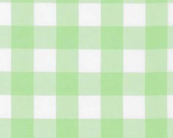 "Mint 1"" Plaid Cotton, Carolina Gingham, Scarf Fabric, Quilting fabric, Apparel Fabric, Plaid cotton Scarf, Robert Kaufman"