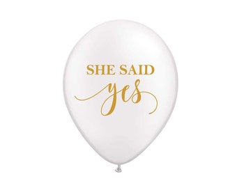 She Said Yes Balloons, Bridal Shower Decor, Bachelorette Balloons, Bachelorette, Bridal Shower, Engagement Photo Prop, Bachelorette Decor