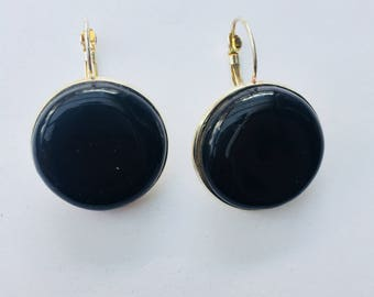 Black ceramic earrings