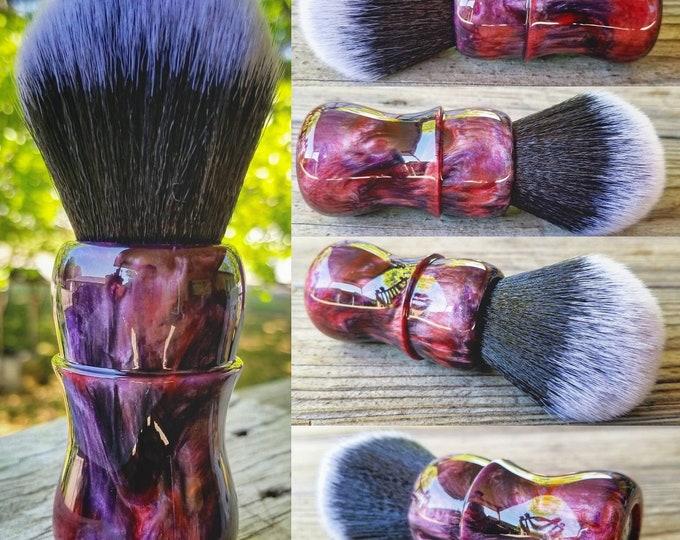 Purple and Red Pearl Shaving Brush, Handmade, Free Shipping