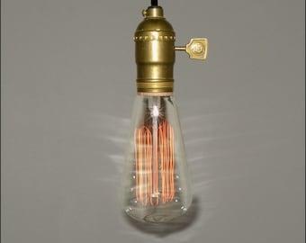 Vintage Minimalist...Single Bare Bulb Pendant