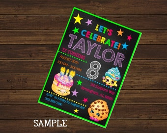 Shopkins Printable Birthday Invitation