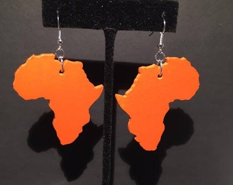 Rust Orange Africa Earrings