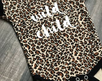 Leopard Wild Child Onesie