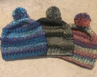 Crochet Bobble Hat Touque