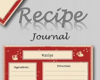 Recipe Journal Pages