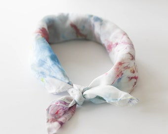 Silk Neck Scarf in WINNIPEG, Silk Headband, Hand Dyed Silk, Hand Dyed Neck Scarf, Neck Scarf for Women, Hair Tie, Headband, Yoga Gift