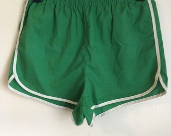 Classic 70s Green Gym Shorts