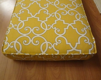 """Bench Seat Cushion,Use Your Fabric, 114"""" x 15.5"""" x 3"""", Includes Foam, Piping, Batting and Zipper. You Pay Shipping"""
