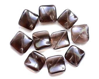 Stone - 1pc - bead 18-20mm 4558550038333 diamond smoky Quartz