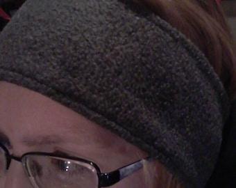 Handmade fleece ear warmers headband