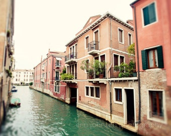 italy photography, venice, italy, pink decor, blue decor, canal, architecture, europe photograph, Hello, Venezia V12