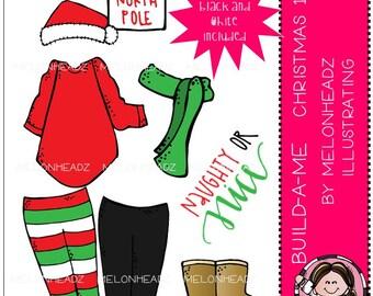 Build-A-Me clip art - Christmas 1- Mini