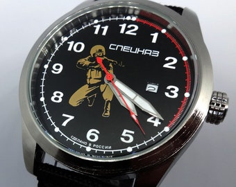 Russian army military soldier wristwatch special forces attack