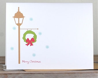 Christmas Cards . Holiday Cards . Personalized Christmas Cards - Let it Snow
