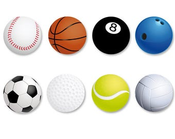 Lot Pins Ø25mm - o38mm Pinback Button Badge / Magnet o38mm Ball Games, ball games