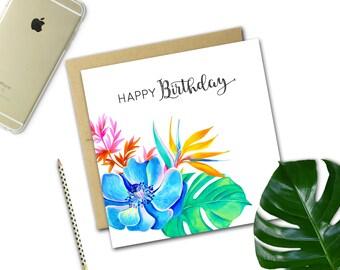 Birthday Card {BIRD OF PARADISE}