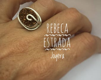 Ring with Golden druza